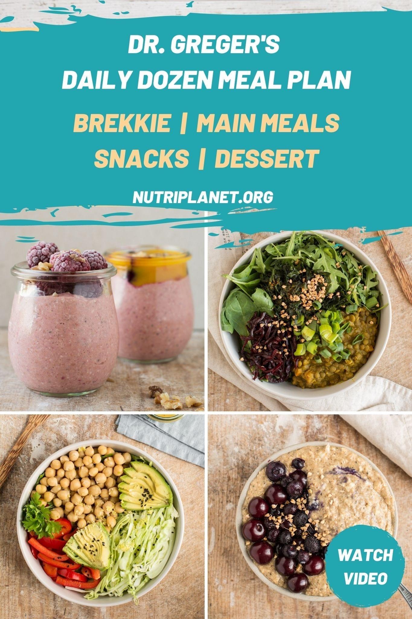 Dr. Greger's Daily Dozen Meal Plan Challenge