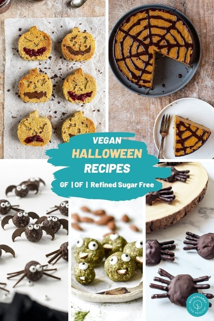 Sweet and savoury gluten-free and oil-free vegan Halloween recipes