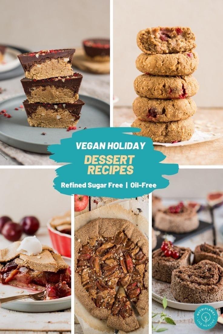 Healthy vegan holiday dessert recipes